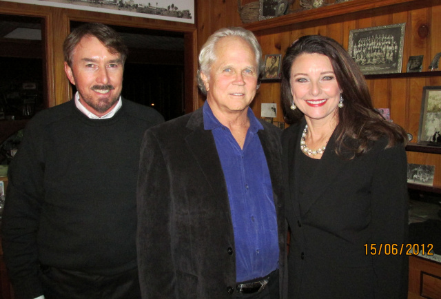 Dinner with Tony Dow - Karl, Tony, Jill