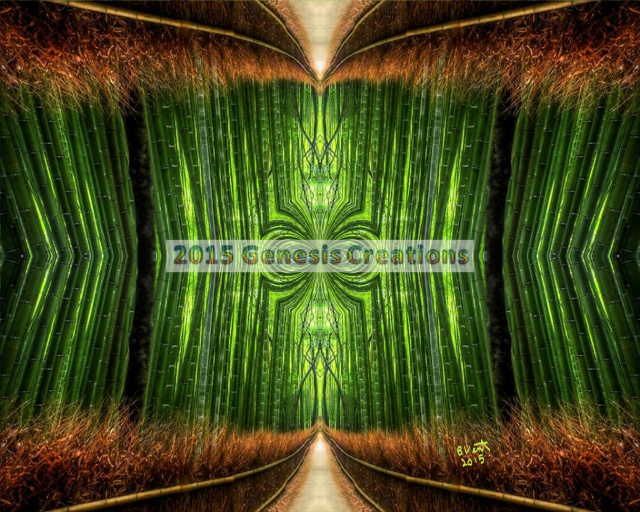 Emerald Path Inspirational Art by Bonnie Vent