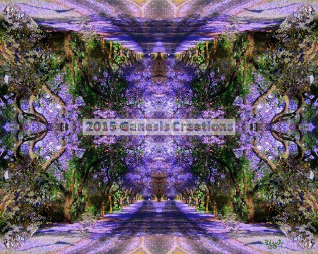 Purple Pathway Inspirational Art by Bonnie Vent